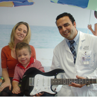 Raffi Tachdjian with young boy and his mom
