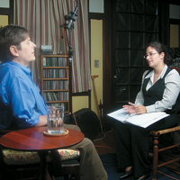 Marilyn Ness interviewing Bob Massie
