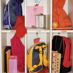Backpacks in school lockers
