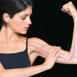 Woman showing strong arm
