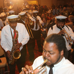 The Kinfolk Brass Band during the Annual Meeting Opening Session