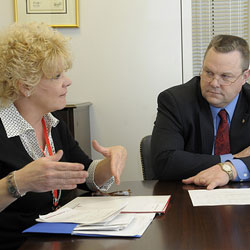 Senator Jon Tester and Lisa Maxwell