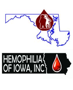 Maryland and Iowa NHF chapter logos
