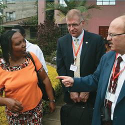 Cecilia Wambui Mwangi and WFH officials