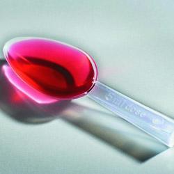 Liquid medicine in measuring spoon