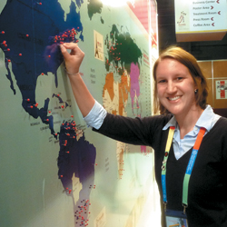 Danielle Schwager at the 2010 World Hemophilia Congress