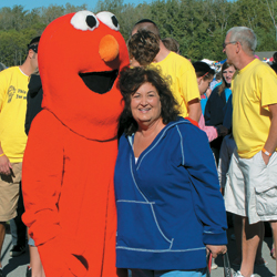 Jeanne White-Ginder at the Indiana Hemophilia Walk