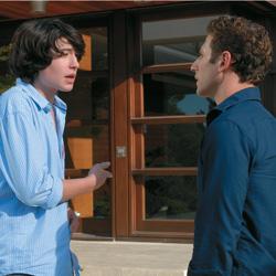 Actors Ezra Miller and Mark Feuerstein